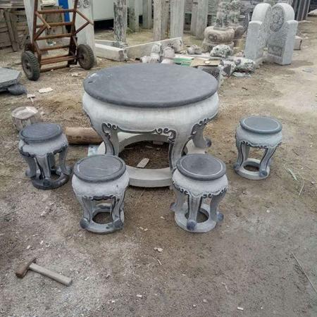 【园林景观172】石雕桌椅板凳雕刻厂