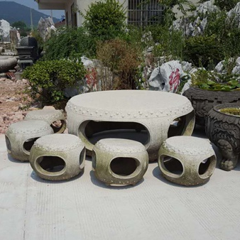 【园林景观174】石雕桌椅板凳供应