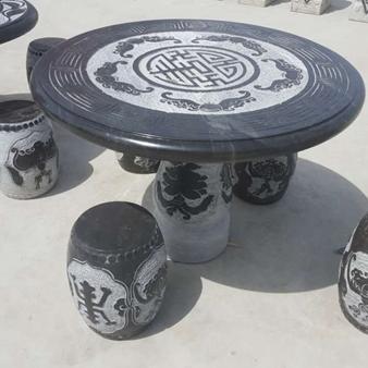 【园林景观176】石雕桌椅板凳公司