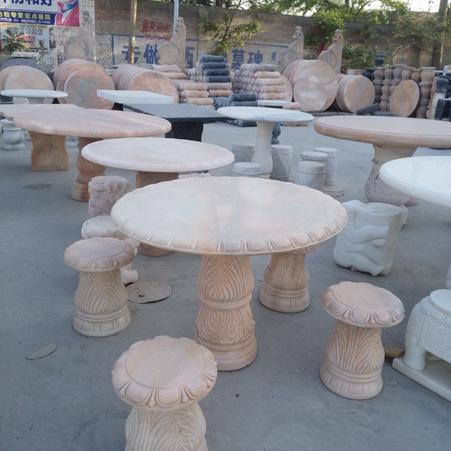 【园林景观180】石雕桌椅板凳公司