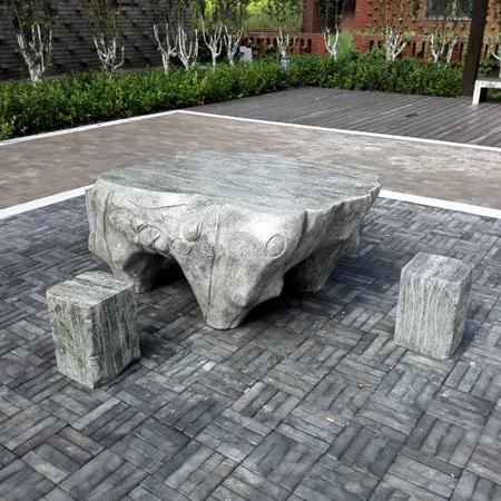【园林景观183】石雕桌椅板凳厂