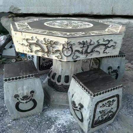 【园林景观185】石雕桌椅板凳哪家好