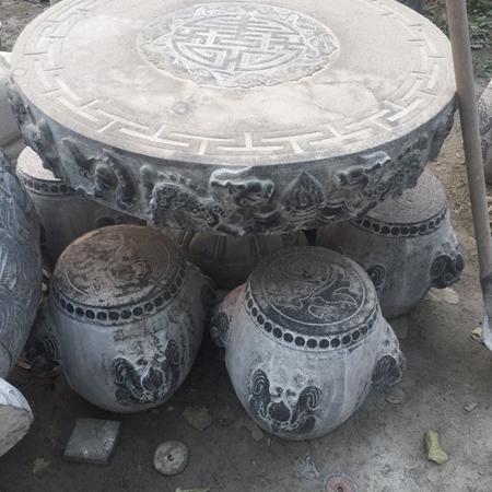 【园林景观198】石雕桌椅板凳价格