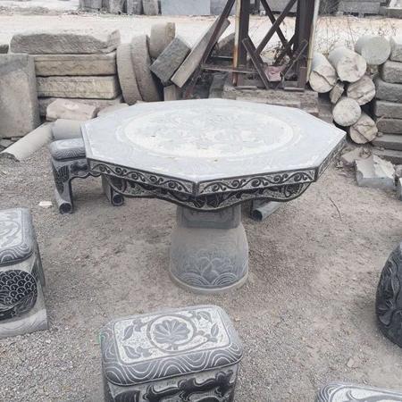 【园林景观199】石雕桌椅板凳厂