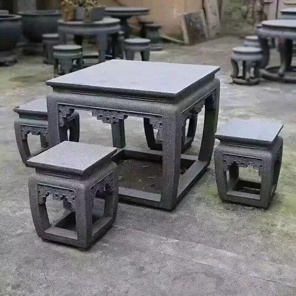 【园林景观200】石雕桌椅板凳公司