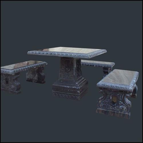 【园林景观225】石雕桌椅板凳哪家好