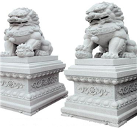 024中式汉白玉石雕狮子汉白玉石雕狮子多少钱汉白玉石雕狮子厂汉白玉狮子报价汉白玉石狮子价格