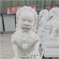 064中式汉白玉石雕狮子汉白玉石雕狮子多少钱汉白玉石雕狮子厂汉白玉狮子报价汉白玉石狮子价格