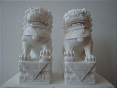 168中式汉白玉石雕狮子汉白玉石雕狮