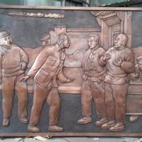 河北唐县大型铜浮雕