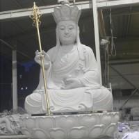 润福雕塑 地藏菩萨石雕像加工定制