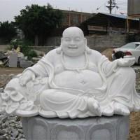 润福雕塑|弥勒佛石雕像加工定制