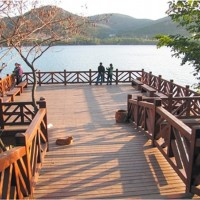 献华木雕|栏杆及木栰道加工定制