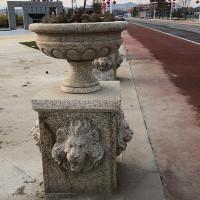 铭创雕塑 石雕花盆定制