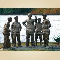 寅意雕塑|军政雕塑定制价格