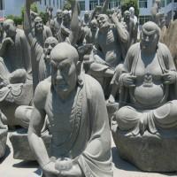 润福雕塑|十八罗汉石雕像定制价格