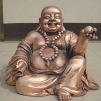 伟东铜雕精品铸铜雕塑弥勒佛加工定制