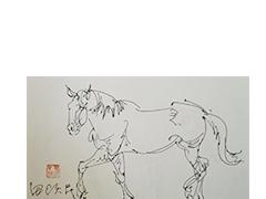 田跃民《马02》,速写,A4尺寸,2016年