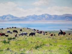 田跃民《吉尔吉斯油画—风景15》60cm×80cm2万元/幅