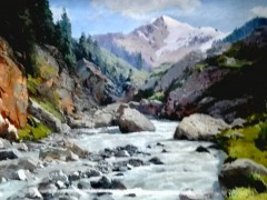 田跃民《吉尔吉斯油画—风景11》60cm×80cm2万元/幅