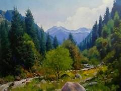 田跃民《吉尔吉斯油画—风景10》60cm×80cm2万元/幅
