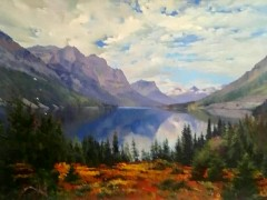 田跃民《吉尔吉斯油画—风景8》60cm×80cm2万元/幅
