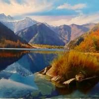 """""""《吉尔吉斯油画—风景5》60cm×80cm2万元/幅"""""""