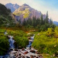 """""""《吉尔吉斯油画—风景4》60cm×80cm2万元/幅"""""""