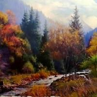 """""""《吉尔吉斯油画—风景3》60cm×80cm2万元/幅"""""""