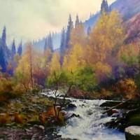 """""""《吉尔吉斯油画—风景2》60cm×80cm2万元/幅"""""""