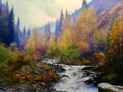 田跃民《吉尔吉斯油画—风景2》60cm×80cm2万元/幅