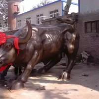 汇融园林雕塑动物雕塑石雕牛加工定制