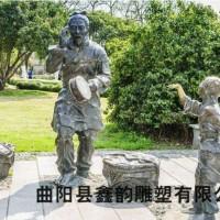 鑫韵古代人物铜雕加工定制
