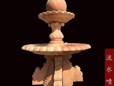 石雕花岗岩喷泉流水雕塑