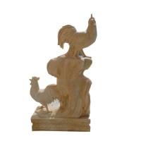 石雕小公鸡十二生肖动物雕塑
