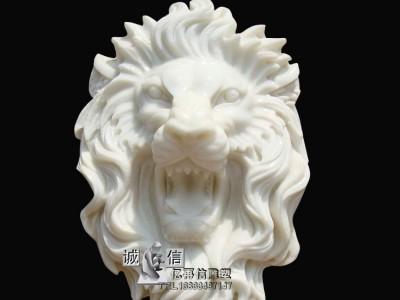 石雕流水狮子头雕刻厂家直销
