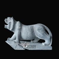石雕老虎十二生肖动物雕塑
