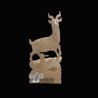 石雕十二生肖羊园林风水招财雕塑