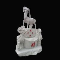 石雕羊三阳开泰十二生肖动物雕塑