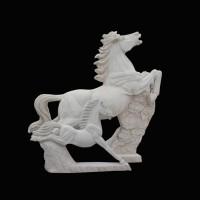 石雕马生肖动物雕塑