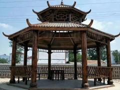 景文木艺六角双层凉亭产品图片