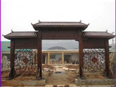 景文木艺门楼产品图片