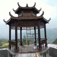 景文木艺六角双层凉亭产品供应