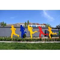 不锈钢剪影人物雕塑铁艺抽象跑步雕塑校园广场城市运动摆件定制