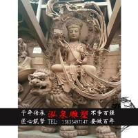 玻璃钢雕塑文殊菩萨雕像十八罗汉钟馗雕塑寺庙供奉开光佛像装饰品