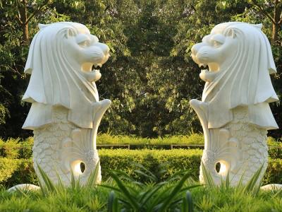 石雕流水动物雕塑定制