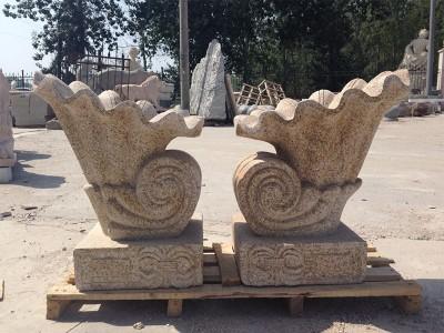 石雕海螺流水景观雕塑