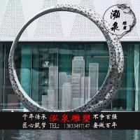 不锈钢镜面金属铁艺创意抽象圆环雕塑户外城市广场景观装饰品摆件