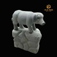 石雕猪十二生肖动物雕塑
