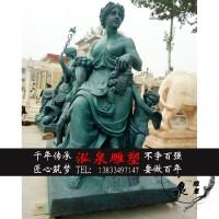 铸铜欧式西方女神人物雕塑紫铜四季女神坐像户外公园迎宾装饰摆件